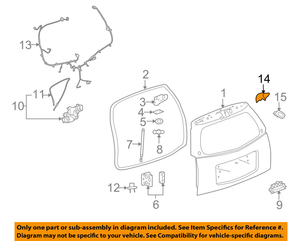 hight resolution of details about cadillac gm oem 06 09 srx liftgate tailgate hatch switch 15141197