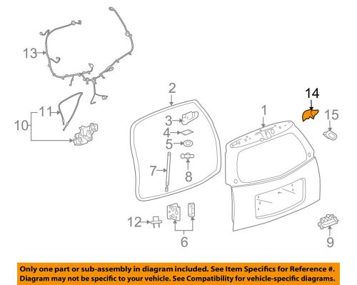 small resolution of details about cadillac gm oem 06 09 srx liftgate tailgate hatch switch 15141197