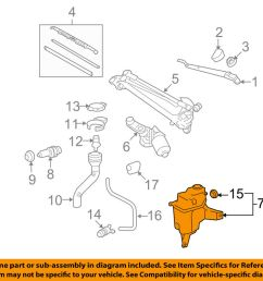 details about toyota oem 06 08 rav4 wiper washer windshield fluid reservoir tank 8531542240 [ 1000 x 798 Pixel ]