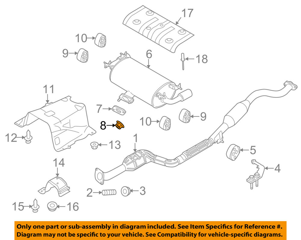 medium resolution of details about mazda oem 08 15 cx 9 3 7l v6 exhaust muffler nut 999461000