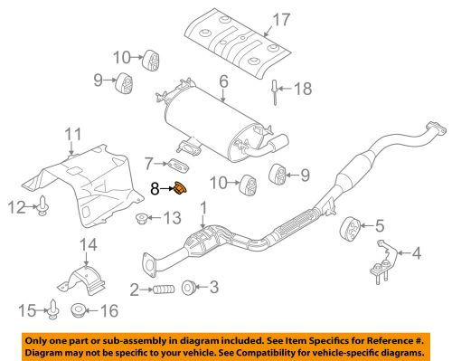 small resolution of details about mazda oem 08 15 cx 9 3 7l v6 exhaust muffler nut 999461000