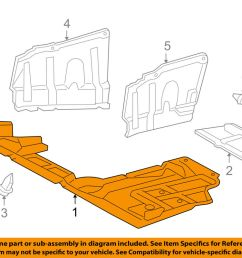 details about toyota oem 2012 rav4 splash shield under engine radiator cover 514100r010 [ 1000 x 798 Pixel ]
