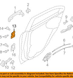 details about kia oem 12 16 rio lock rear door upper hinge left 793302v000 [ 1000 x 798 Pixel ]
