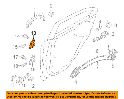 small resolution of details about kia oem 12 16 rio lock rear door upper hinge left 793302v000