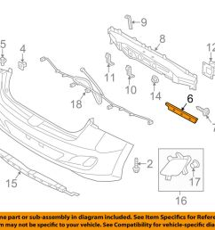 details about hyundai oem 13 17 elantra gt rear bumper side bracket right 86614a5000 [ 1000 x 798 Pixel ]