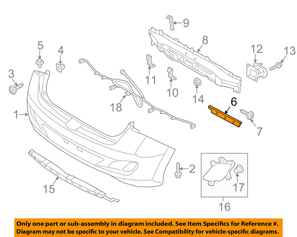 hight resolution of details about hyundai oem 13 17 elantra gt rear bumper side bracket right 86614a5000