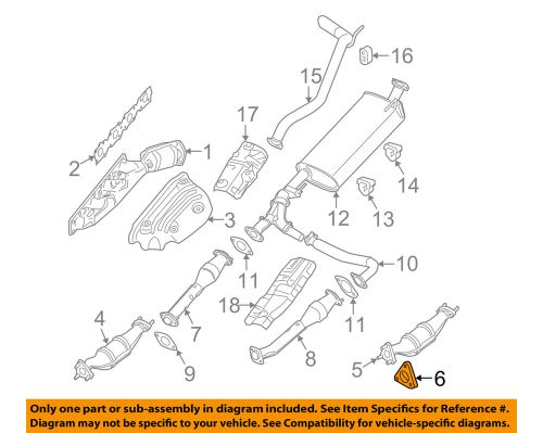 small resolution of details about nissan oem exhaust front muffler gasket 2069130p0a