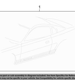 details about ford oem 06 09 mustang striping kit stripe tape left 7r3z6320001bg [ 1000 x 798 Pixel ]