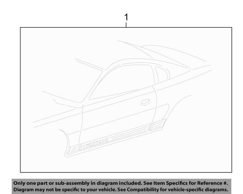 small resolution of details about ford oem 06 09 mustang striping kit stripe tape left 7r3z6320001bg