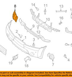 details about nissan oem 08 15 armada front bumper side reinforcement right 62038zq00a [ 1000 x 798 Pixel ]