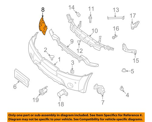 small resolution of details about nissan oem 08 15 armada front bumper side reinforcement right 62038zq00a