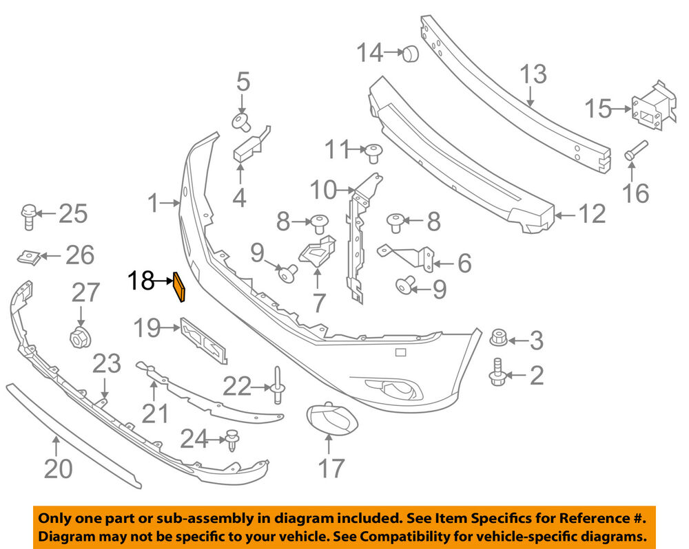 hight resolution of details about nissan oem 13 16 pathfinder front bumper tow eye cap cover 622a03ka0a