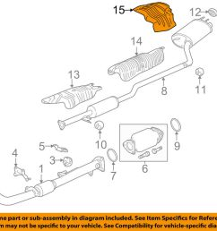 details about honda oem 13 17 accord 2 4l l4 exhaust heat shield 74654t2aa00 [ 1000 x 798 Pixel ]