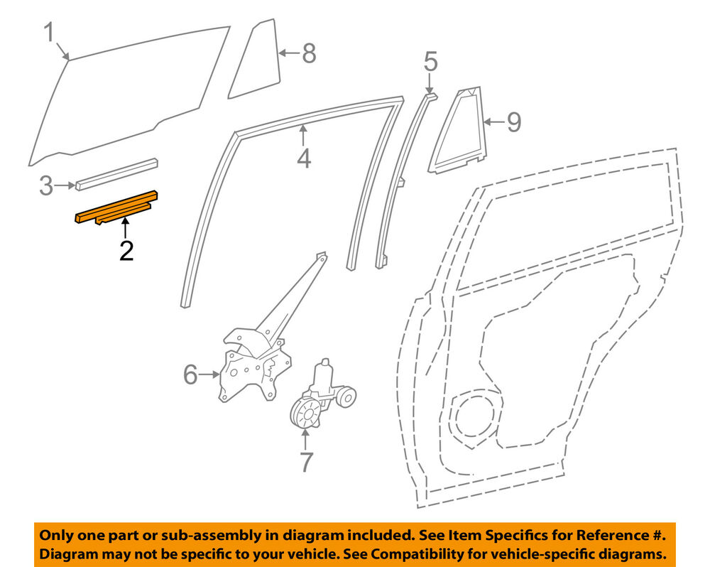hight resolution of details about toyota oem 13 18 rav4 glass rear door lift channel right 699050r030