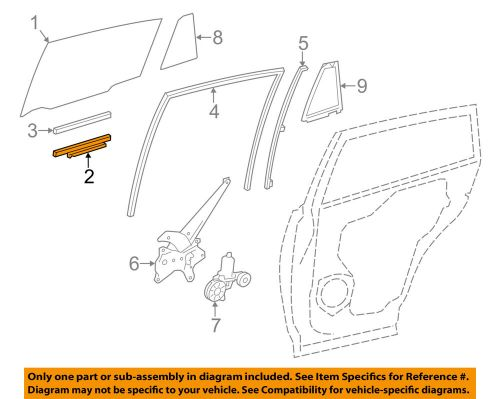 small resolution of details about toyota oem 13 18 rav4 glass rear door lift channel right 699050r030