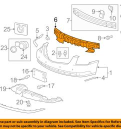 details about cadillac gm oem 06 11 dts bumper face foam impact absorber bar 15247630 [ 1000 x 798 Pixel ]