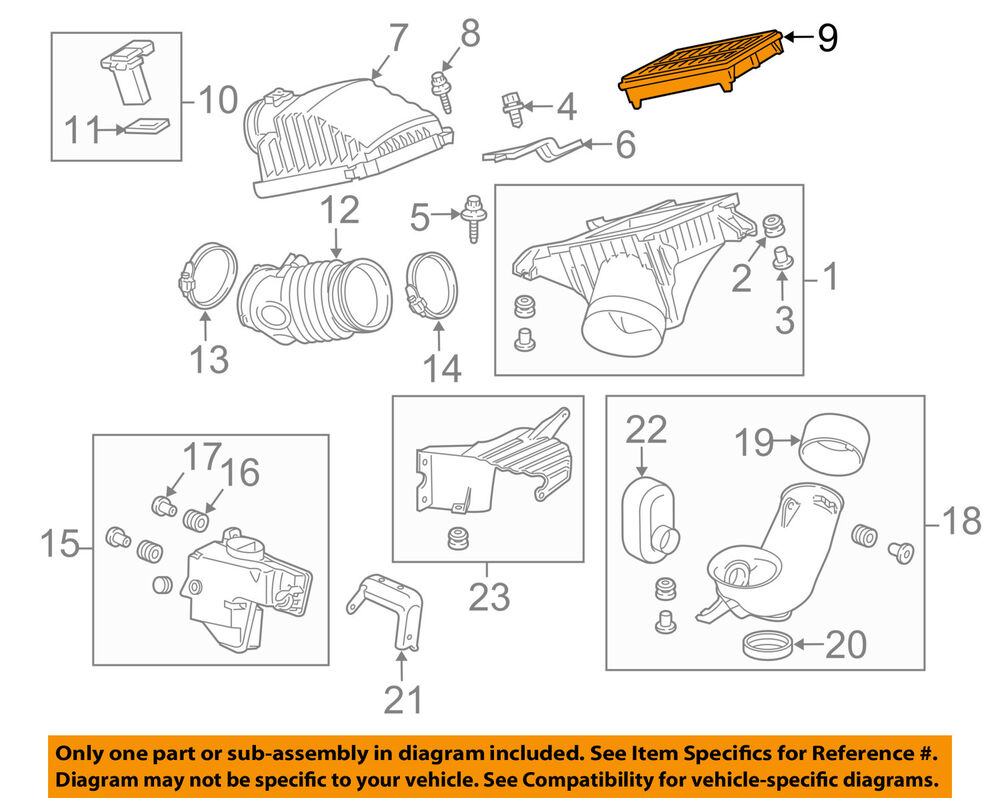 hight resolution of details about acura honda oem 10 13 mdx engine air cleaner filter element 17220ryea10