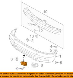 details about nissan oem 99 04 pathfinder front bumper bumper cover finisher right 622562w100 [ 1000 x 798 Pixel ]