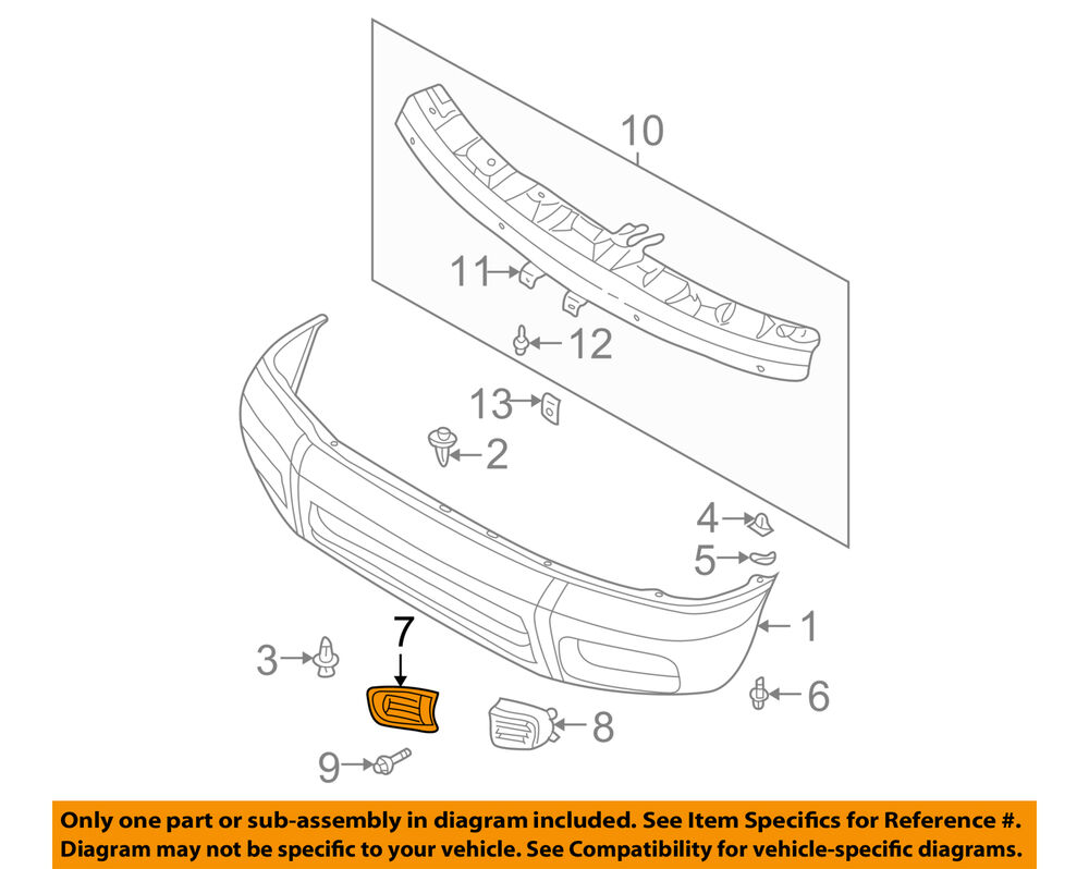 medium resolution of details about nissan oem 99 04 pathfinder front bumper bumper cover finisher right 622562w100