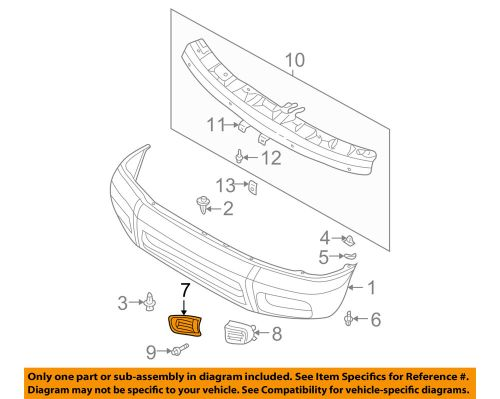 small resolution of details about nissan oem 99 04 pathfinder front bumper bumper cover finisher right 622562w100