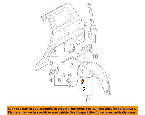 small resolution of details about hyundai oem 01 16 elantra quarter panel wheelhouse liner u nut 8682528000