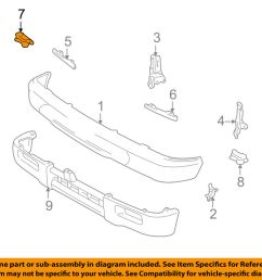 details about toyota oem 95 97 tacoma front bumper filler retainer right 5252235020 [ 1000 x 798 Pixel ]