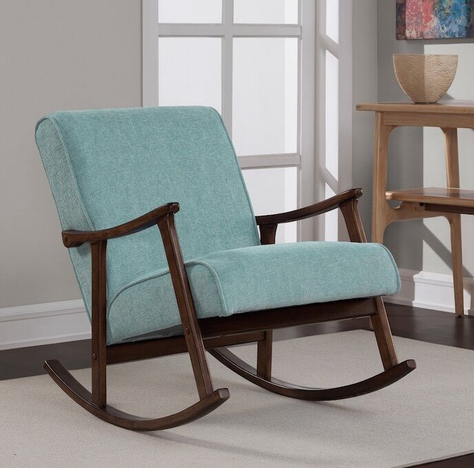 bedroom rocking chair ergonomic uk ikea mid century modern for nursery chairs details about rocker retro new