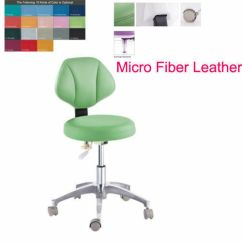Revolving Chair For Doctor Vintage Ladder Back Chairs Microfiber Pu Leather Medical Lab Dental Mobile Dentist Details About Nurse Stool