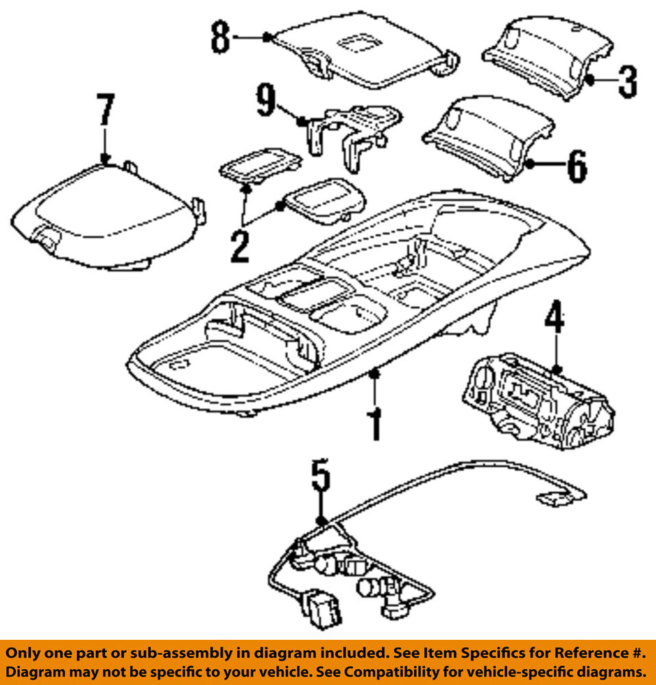 hight resolution of details about dodge chrysler oem 99 02 ram 3500 overhead roof console wire harness 5013609aa