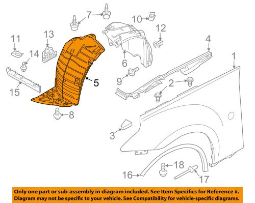 small resolution of details about nissan oem 09 16 370z front fender liner splash shield right 638441ea0a