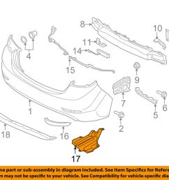 details about hyundai oem 14 16 elantra rear bumper under cover 866903y700 [ 1000 x 798 Pixel ]