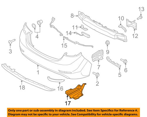 small resolution of details about hyundai oem 14 16 elantra rear bumper under cover 866903y700