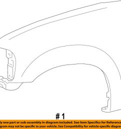 details about ford oem 04 08 f 150 front fender quarter panel right 6l3z16005a [ 1000 x 939 Pixel ]