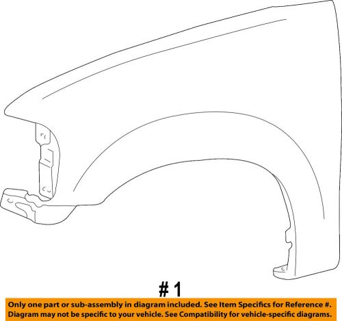 small resolution of details about ford oem 04 08 f 150 front fender quarter panel right 6l3z16005a