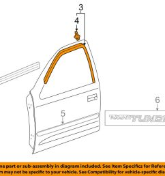 details about toyota oem 00 06 tundra front door frame molding right 750710c010 [ 1000 x 798 Pixel ]