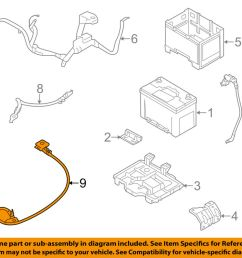 details about kia oem 12 13 optima 2 4l l4 battery ground cable 918604c010 [ 1000 x 798 Pixel ]