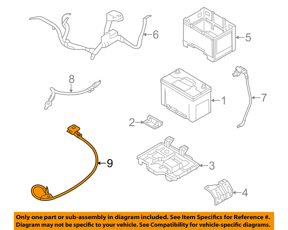 medium resolution of details about kia oem 12 13 optima 2 4l l4 battery ground cable 918604c010