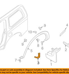 details about nissan oem 05 08 armada exterior edge guard right 638387s000 [ 1000 x 798 Pixel ]
