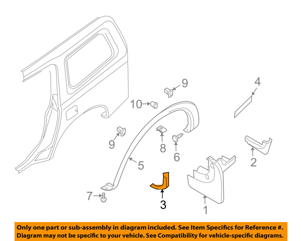 hight resolution of details about nissan oem 05 08 armada exterior edge guard right 638387s000