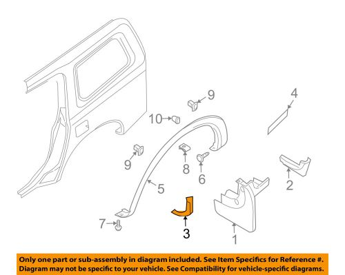 small resolution of details about nissan oem 05 08 armada exterior edge guard right 638387s000