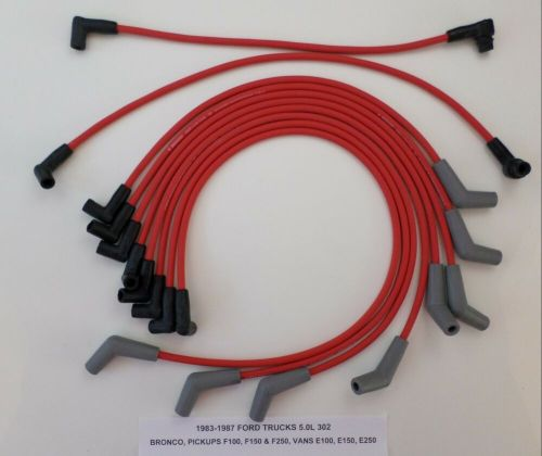 small resolution of details about 1988 97 ford trucks vans f250 f350 f450 e250 e350 7 5l 460 red spark plug wires