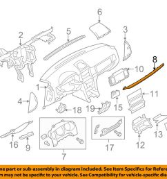 details about lincoln ford oem mkz instrument panel dash trim molding right ah6z54044a90da [ 1000 x 798 Pixel ]