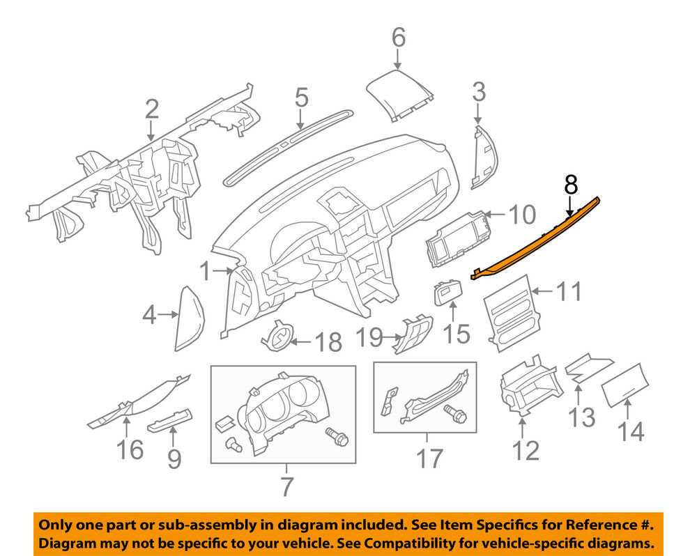 hight resolution of details about lincoln ford oem mkz instrument panel dash trim molding right ah6z54044a90da