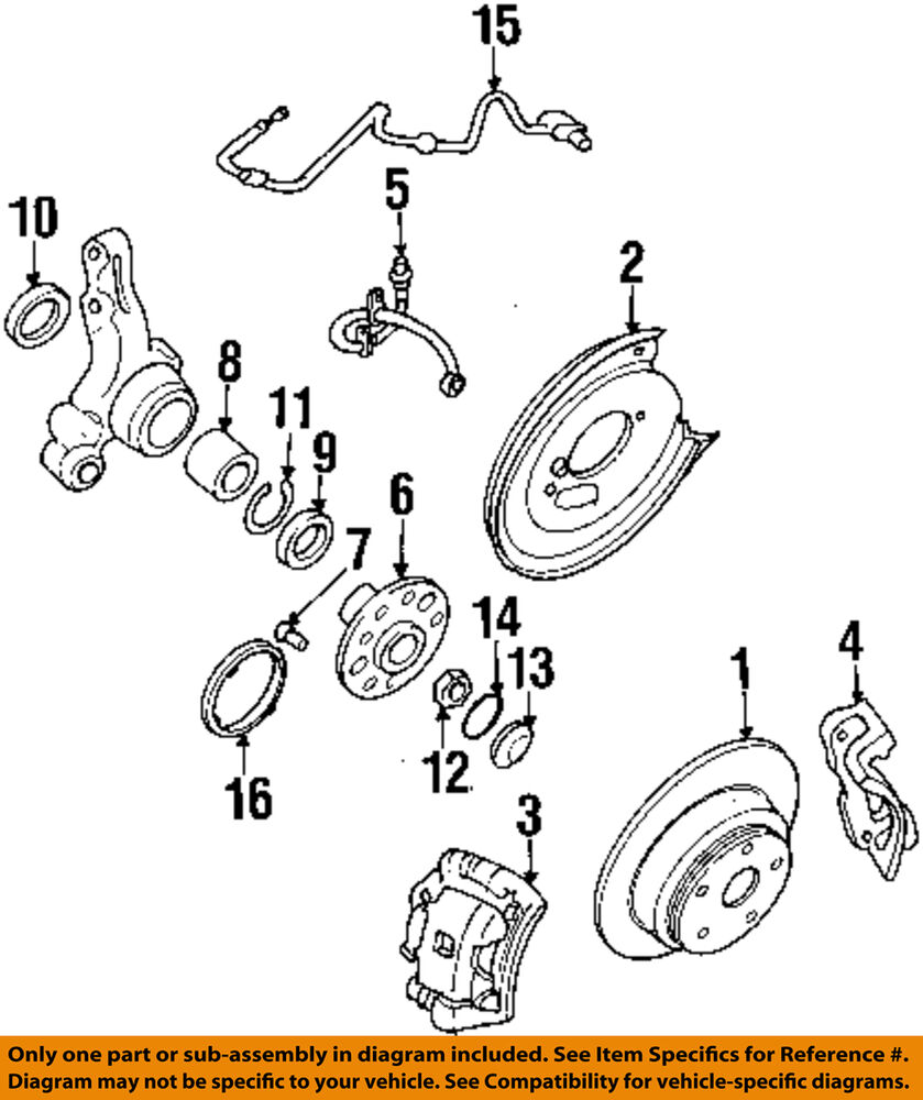 hight resolution of details about subaru oem 92 97 svx rear wheel bearing 28016pa0108a