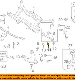 details about subaru oem 08 11 tribeca rear suspension lateral arm washer 20560aa011 [ 1000 x 798 Pixel ]