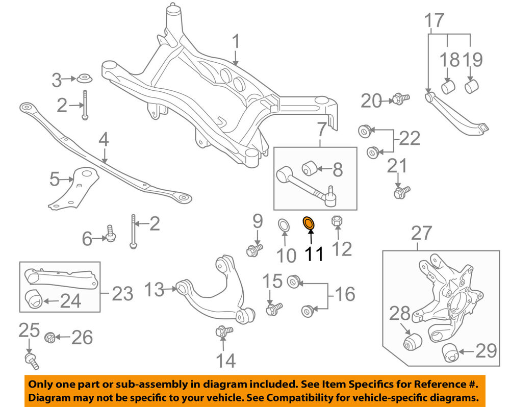 hight resolution of details about subaru oem 08 11 tribeca rear suspension lateral arm washer 20560aa011