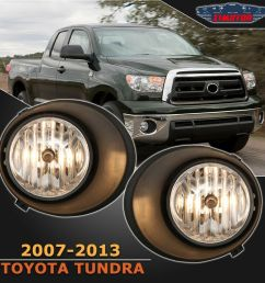 details about fit toyota tundra 07 13 clear lens pair oe fog light lamp wiring switch full kit [ 1000 x 1000 Pixel ]