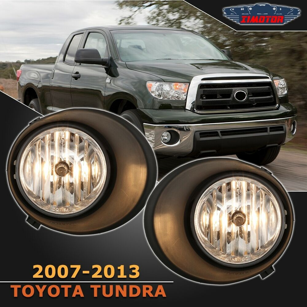 medium resolution of details about fit toyota tundra 07 13 clear lens pair oe fog light lamp wiring switch full kit