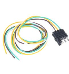 details about trailer light wiring harness extension 4 pin plug 18 awg flat wire connector [ 1000 x 1000 Pixel ]