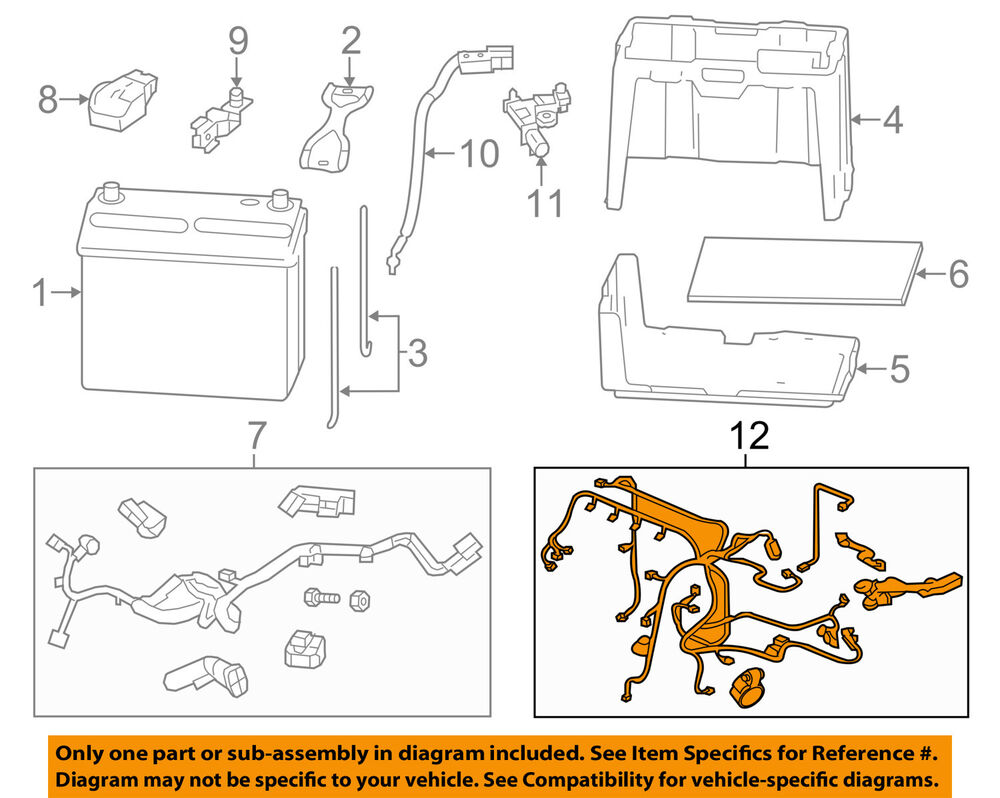 hight resolution of details about honda oem 12 13 civic 1 8l l4 battery engine wiring harness 32110r1aa53
